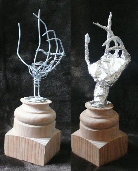 Hand Armature Wire Art Sculpture Armature Sculpture Bronze