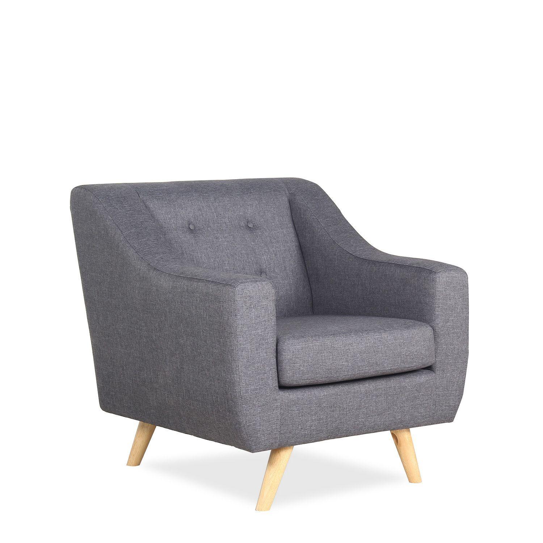 Sill n de estilo vintage tapizado en lino no se puede desenfundar para limpiar estructura - Rellenos para sillones ...