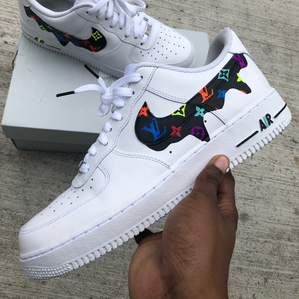Custom Drip AF1s NWT Custom nike shoes, Nike shoes women