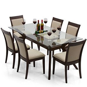 Wesley Dalla 6 Seater Dining Table Set 6 Seater Dining Table Wooden Dining Table Designs Dining Table Design Modern