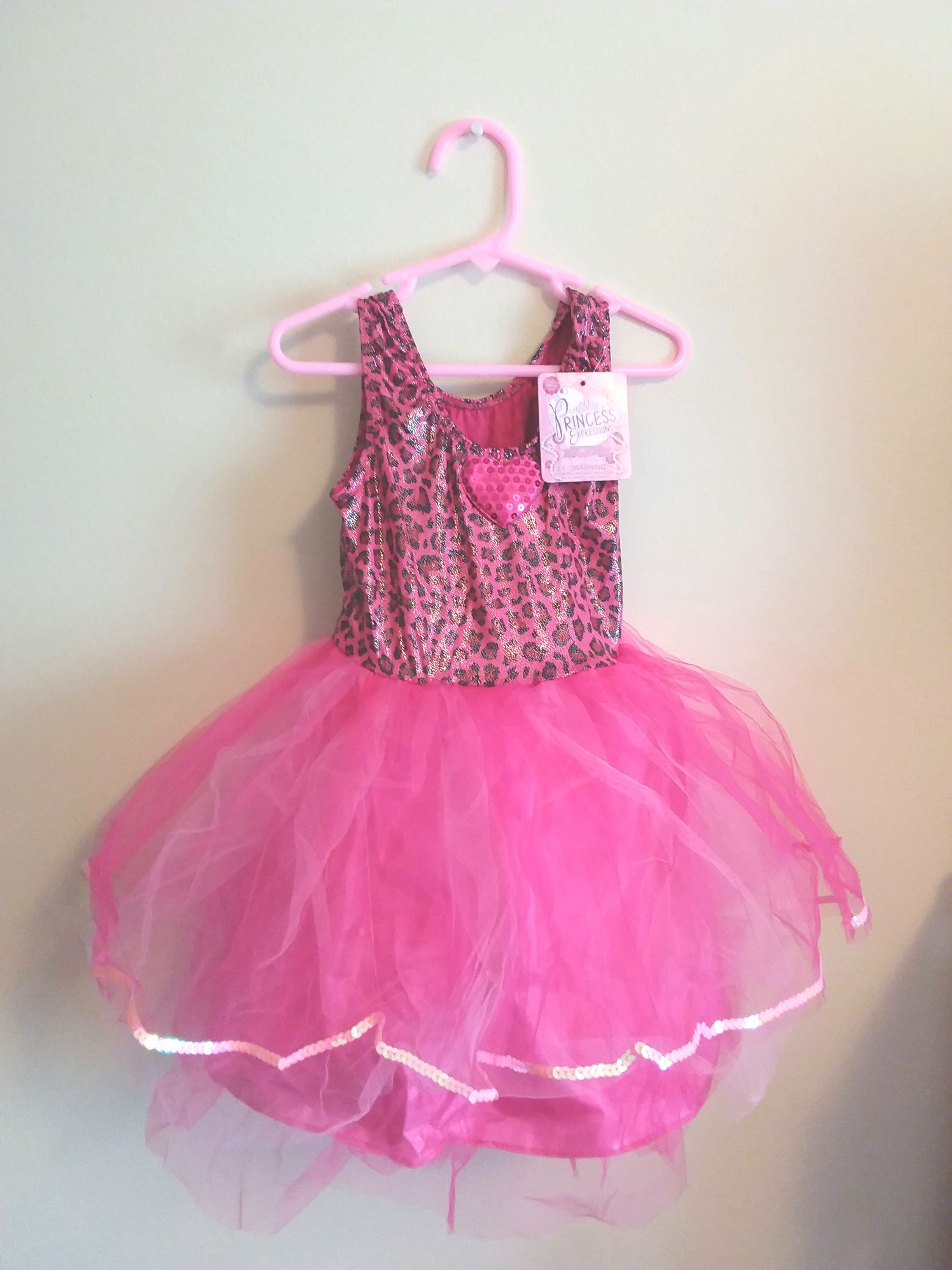 Girls #Pink #Leopard #Princess #Halloween #Costume #Party #DressUp ...