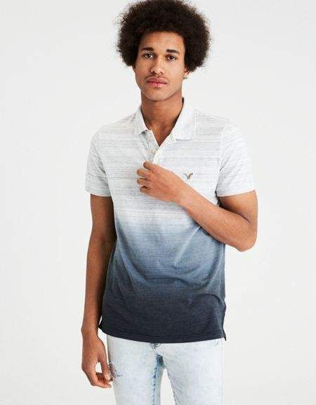 5a4fd4a2 American Eagle Outfitters AE FLEX JERSEY DIP-DYE POLO   Products ...