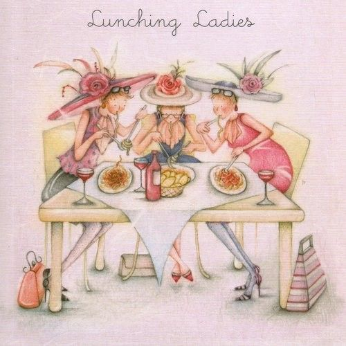 Lunching Ladies Female Berni Parkers Designs Card. £2.75 - FREE Postage!