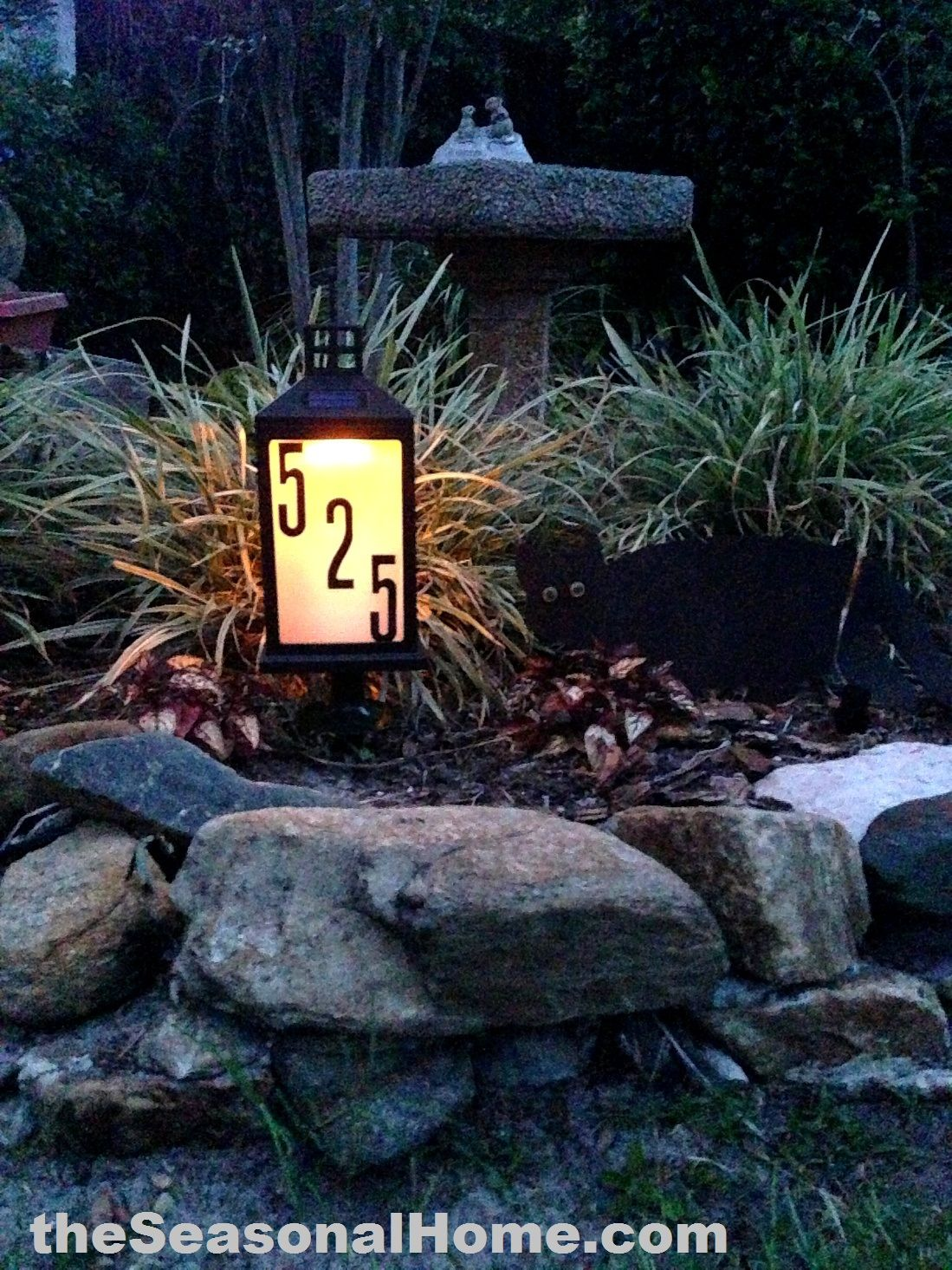 Very Cool Homemade 8 Solar Address Lantern For Your Front
