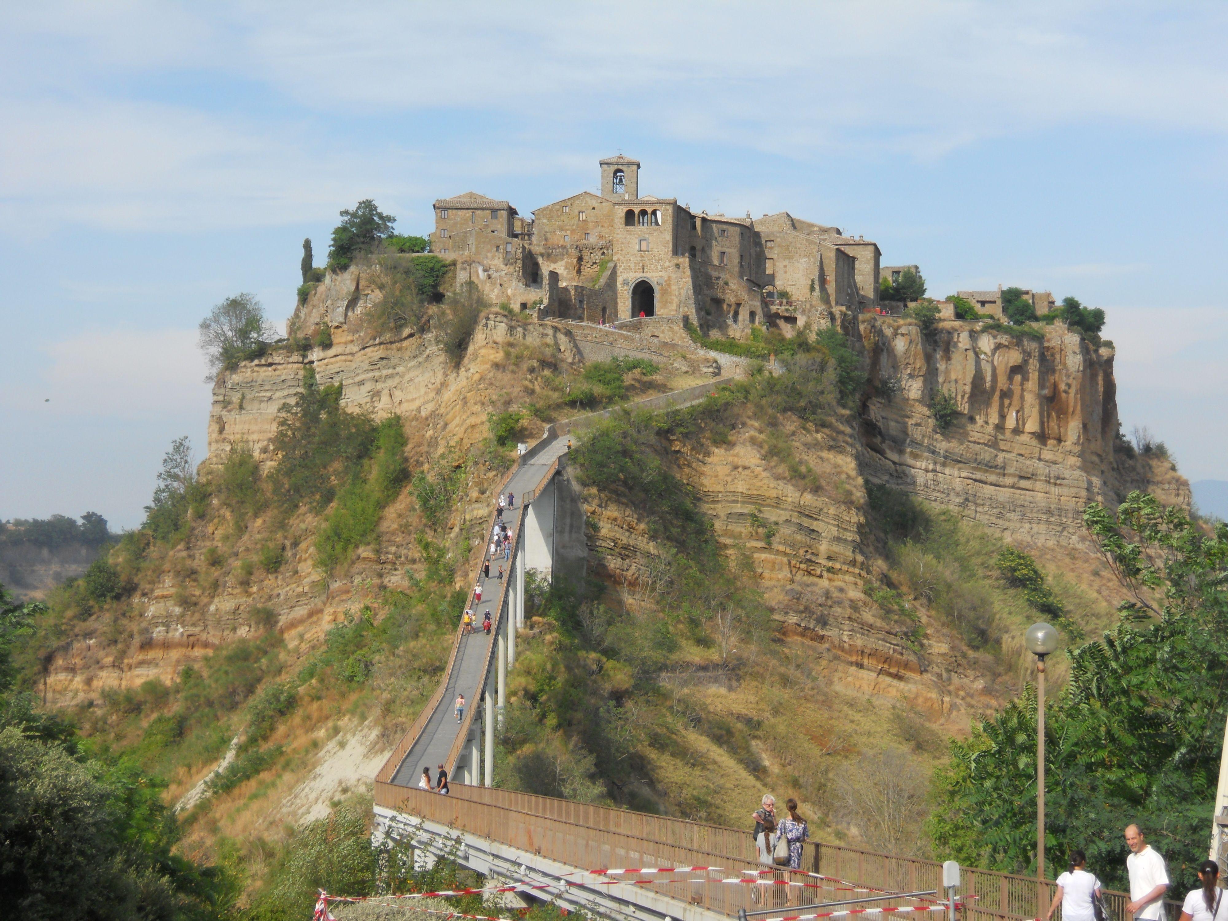 Civita Bagno Reggio in Italy... one bridge in and out... a city ...
