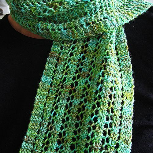 Free Knitting Lace Scarf Pattern One Row Lace Scarf By Turvid