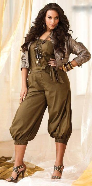 Cute Jumpsuit Ashley Stewart Womens Plus Size Fashion Unique Style Inspiration Urban Apparel Unique_womens_fashion