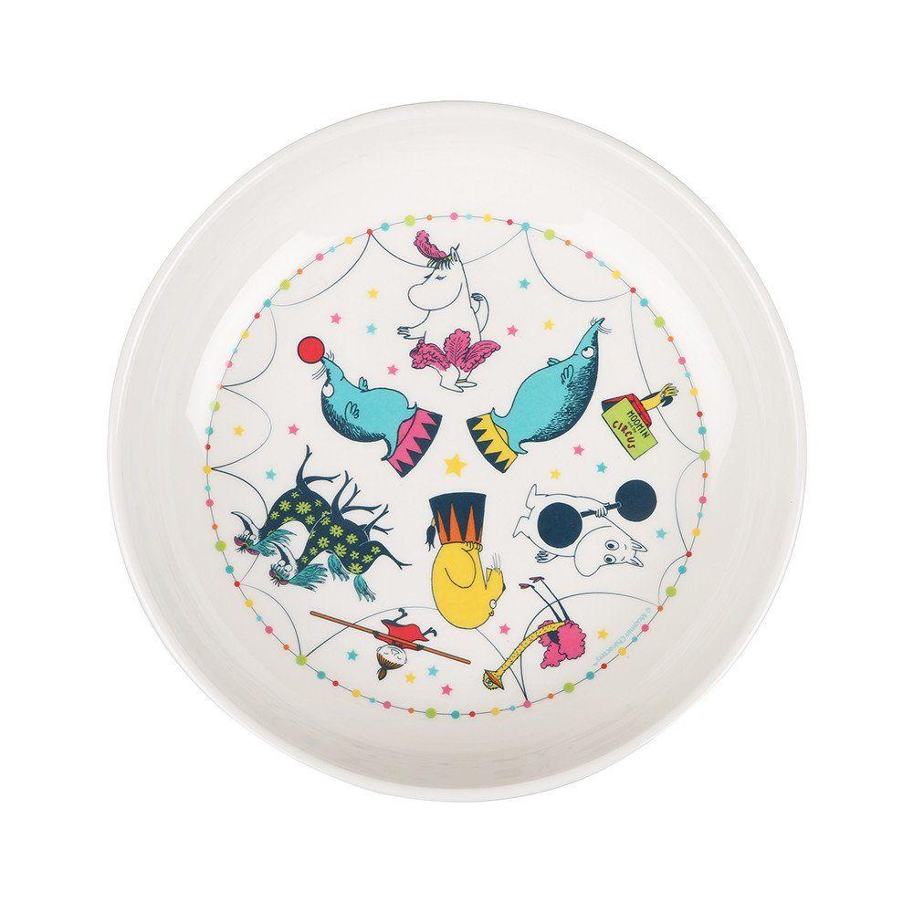 Beautiful Circusthemed plastic bowlfeaturing beloved Moomin characters. Size 17 x 4 cmKaunis Muumi Sirkussyvä lautanenlapsille, jossa nähdään rakastettuja Muumi-hahmoja.Koko: 17 x 4 cmVacker Mumin djup tallrikav plast perfekt för barn med sirkustema. Storlek:17 x 4 cm