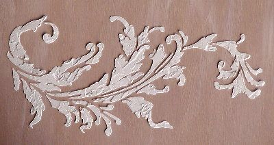 raised plaster border