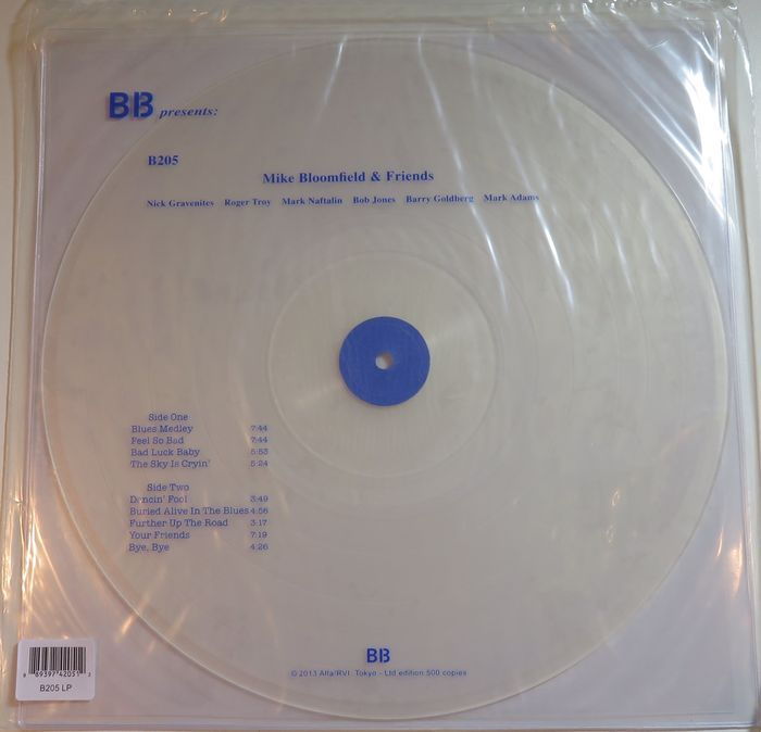 Mike Bloomfield Friends California 1970 S Limited 500 Copies Lp On White Transparant Vinyl