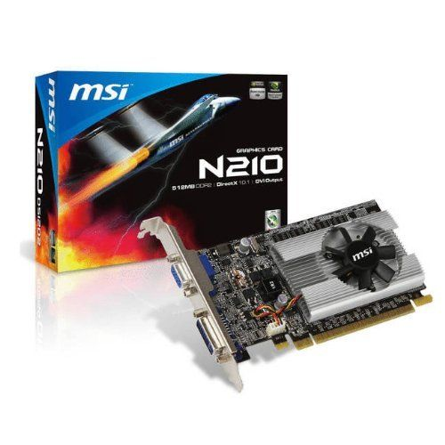 MSI nVidia GeForce 210 512 MB DDR2 VGA/DVI PCI-Express ...