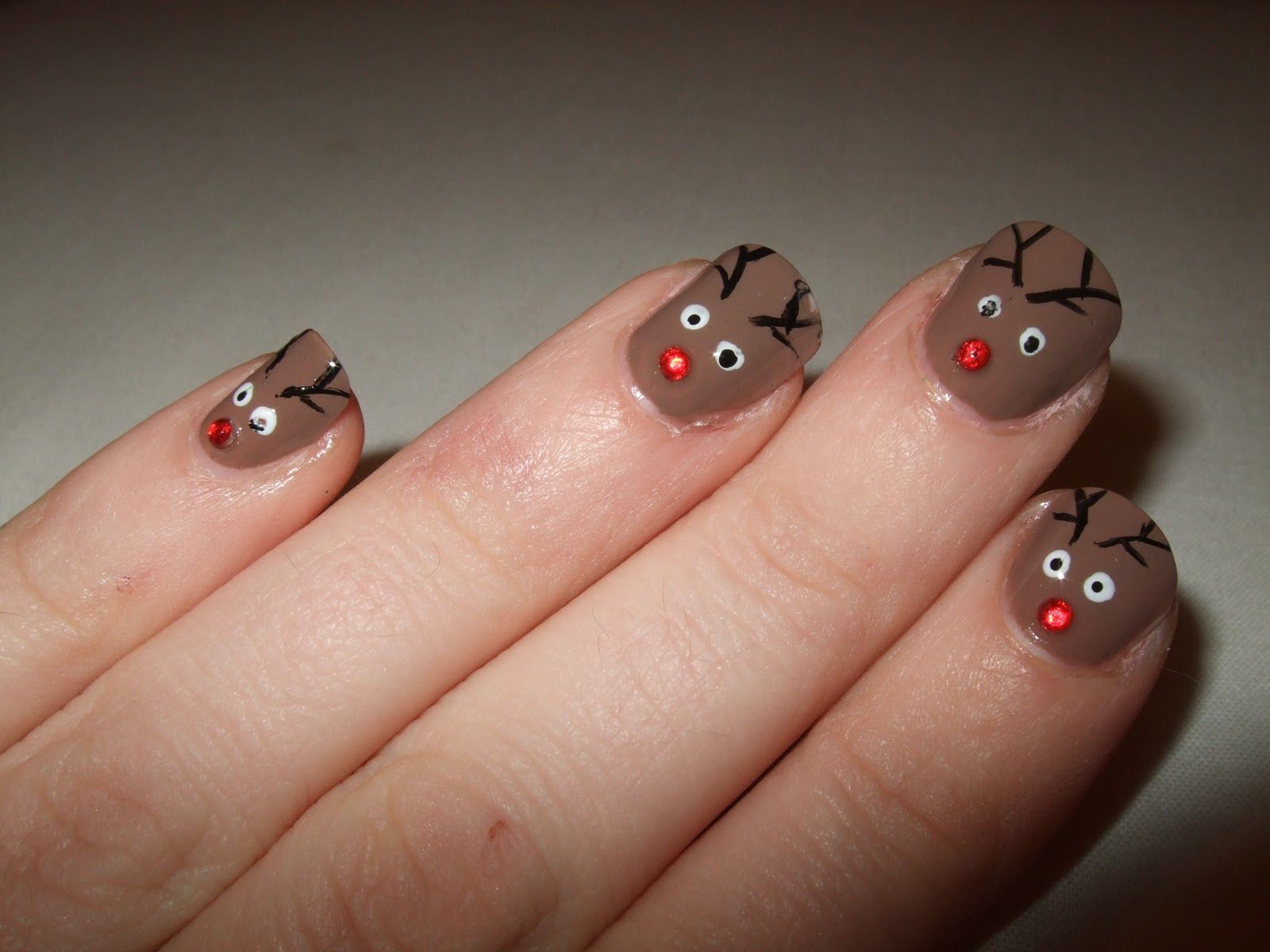 187 best christmas nails images on pinterest christmas nails this is my favourite christmas nail design this year it is a reindeer nail design and even if i do say so myself i think its sooooo cute solutioingenieria Images