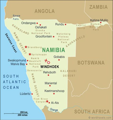 Southwest Africa Map.Windhoek The Once Capital Of German Southwest Africa Which Wasn T