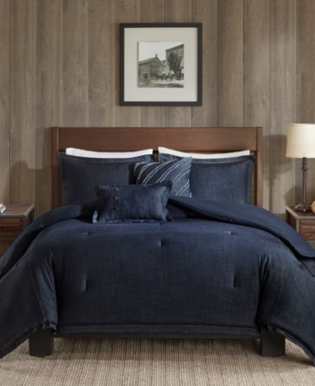Woolrich Perry 4 Pc Twin Twin Xl Denim Comforter Set