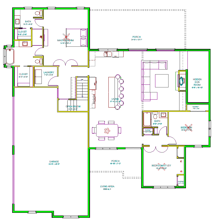 Pin On House Plans 2 000 Sq Ft