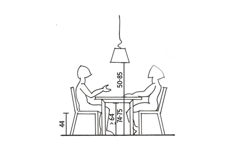 L'altezza giusta per il tavolo da pranzo | Tavoli da ...