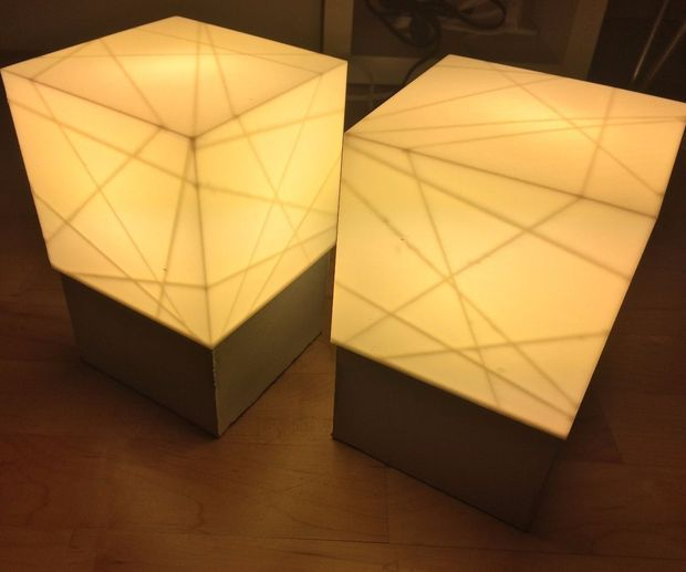 Concrete Lamp Base With 3d Printed Shade Concrete Lamp Lamp Simple Lamp