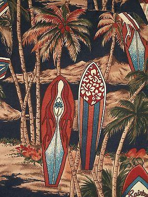Royal Creations Men's Hawaiian Shirt Size Large Surfboards Palm Trees Floral | eBay