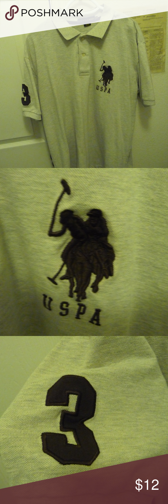 Us Polo Assn By Ralph Lauren Uspa Men S Polo Us Polo Assn By Ralph Lauren Uspa Men S Polo S S Brown With 3 On Sleve With Xl Ve Us Polo Assn Polo