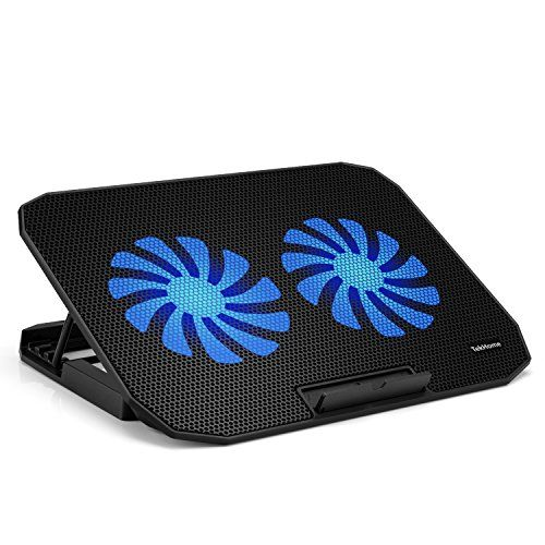 Cheap Tekhome 2 Fan Laptop Cooling Pad Gaming Cooler For Notebooks