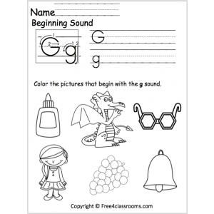 beginning g sound worksheet beginning sounds homework 2018 g sound worksheets beginning sounds. Black Bedroom Furniture Sets. Home Design Ideas