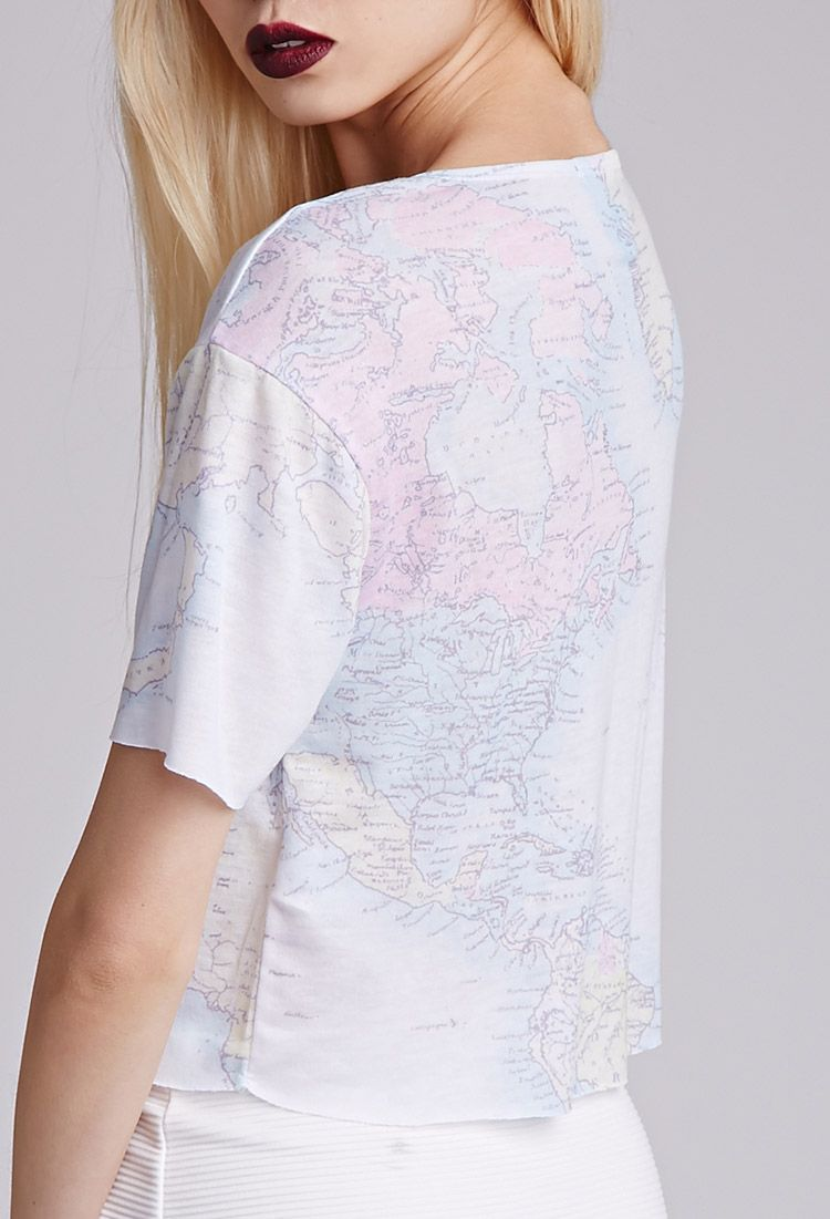 Map Graphic Tee | FOREVER21 - 2049258014
