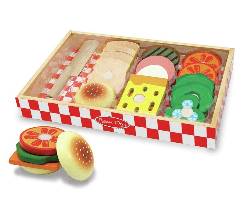 Buy Melissa And Doug Wooden Sandwich Making Set Cooking