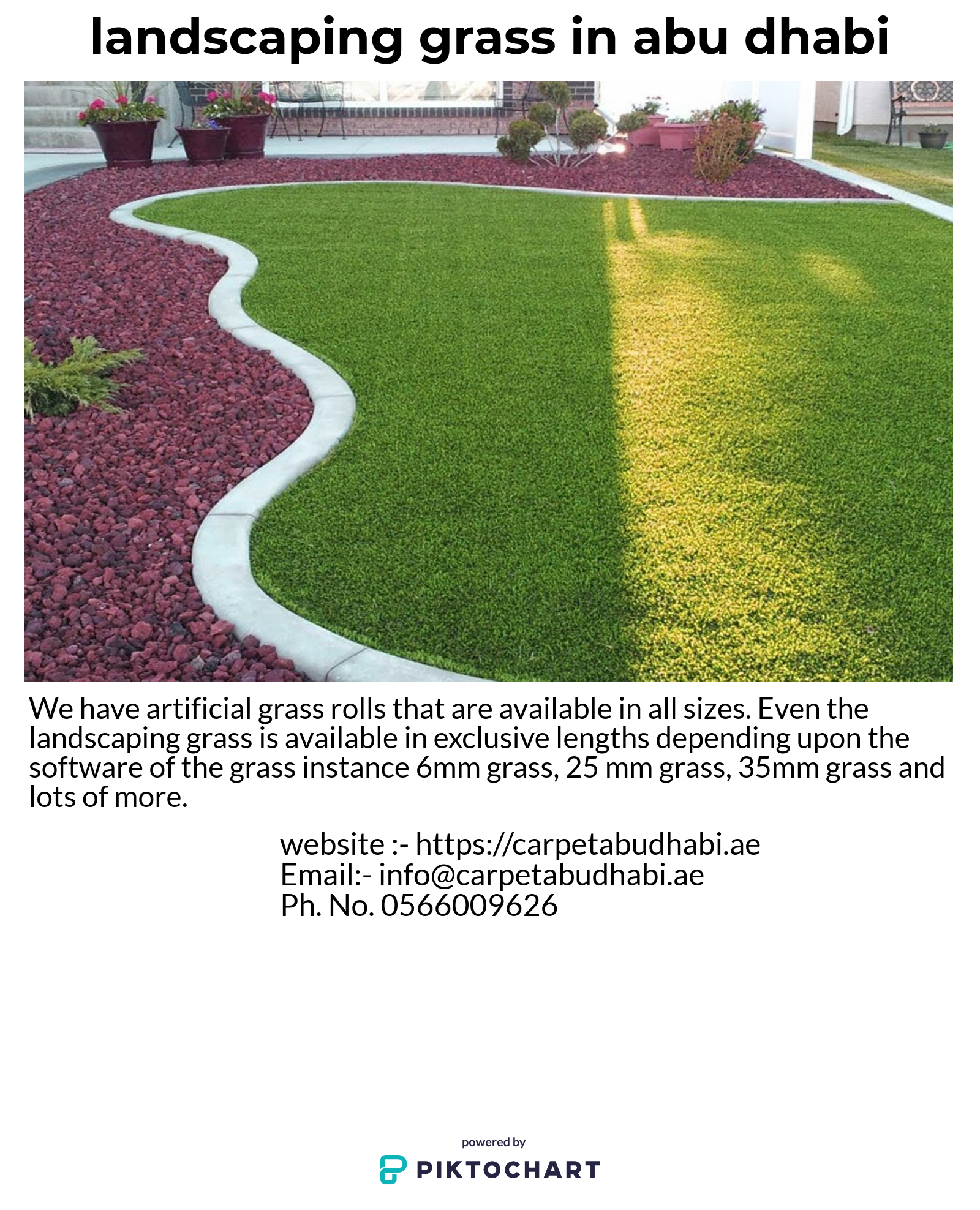 We have artificial grass rolls that are available in all
