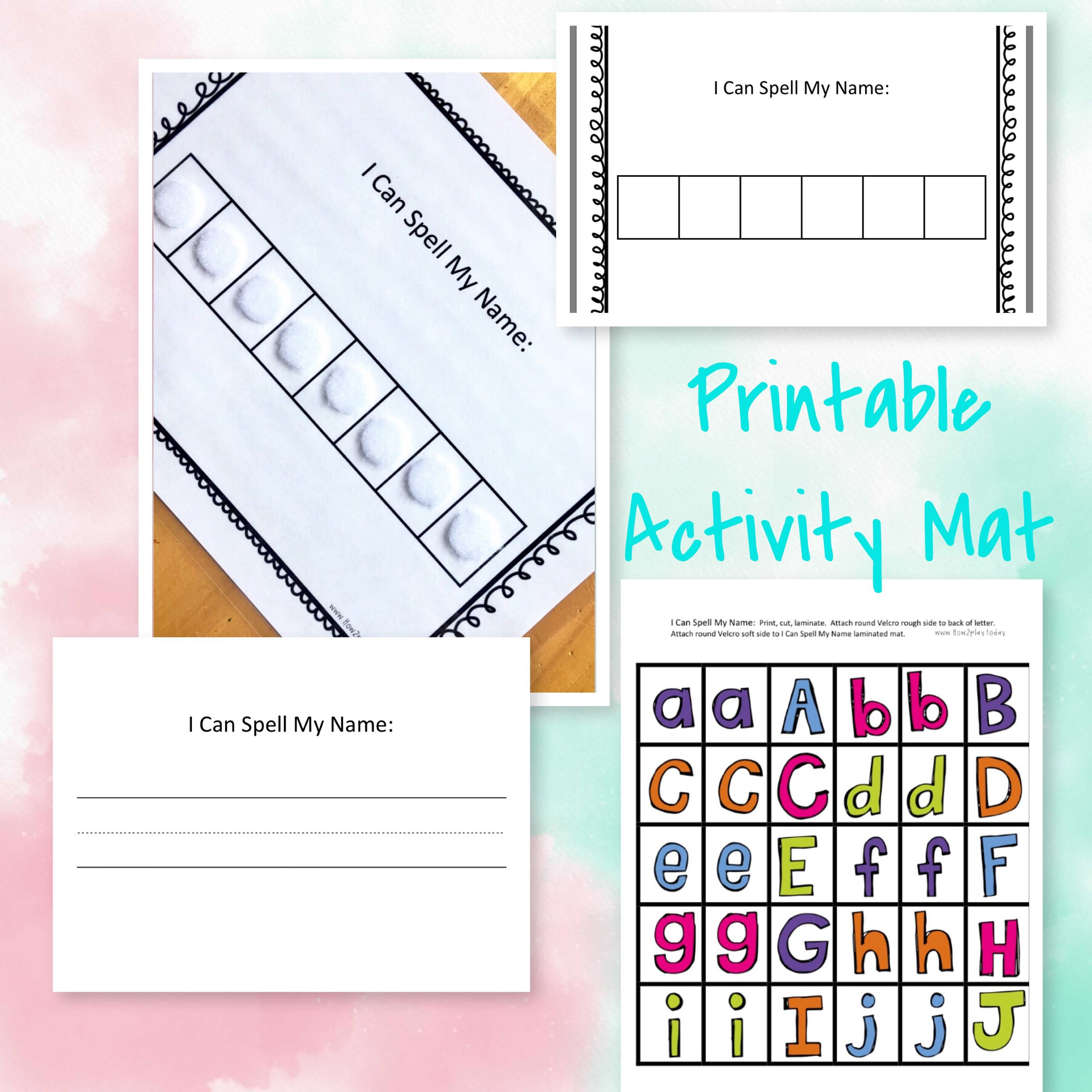 Laminate This I Can Spell My Name Mat And Your Children Can Have Endless Fun Use Dry Erase Or Wet Erase Markers Wet Erase Markers Names Printable Activities [ 2800 x 2800 Pixel ]