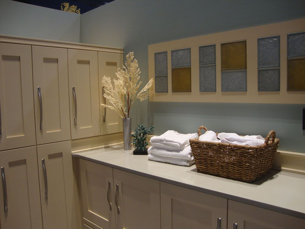 Color and Frosted accent blocks in display at National Kitchen and ...
