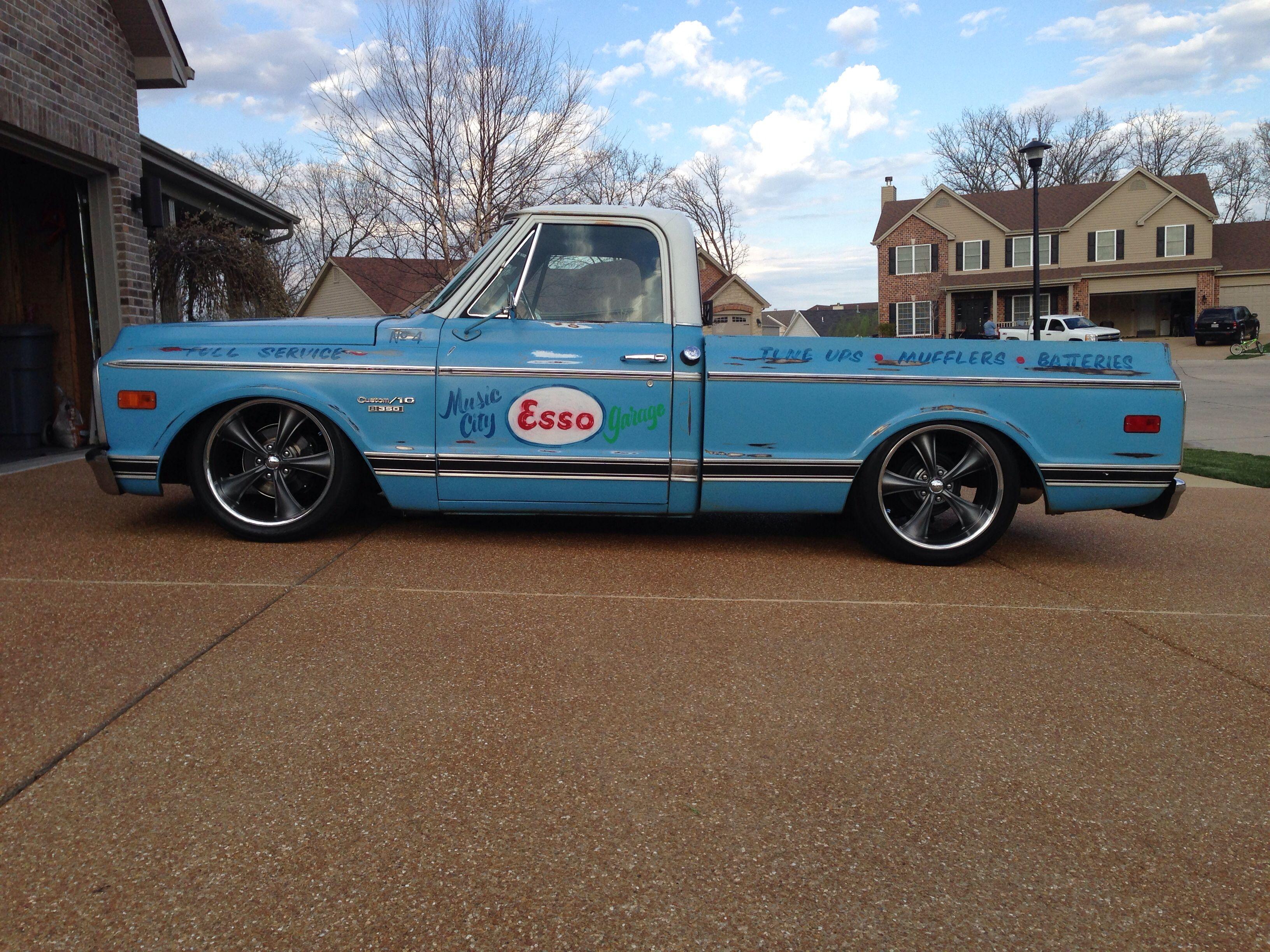 Chevy c10 shop truck esso