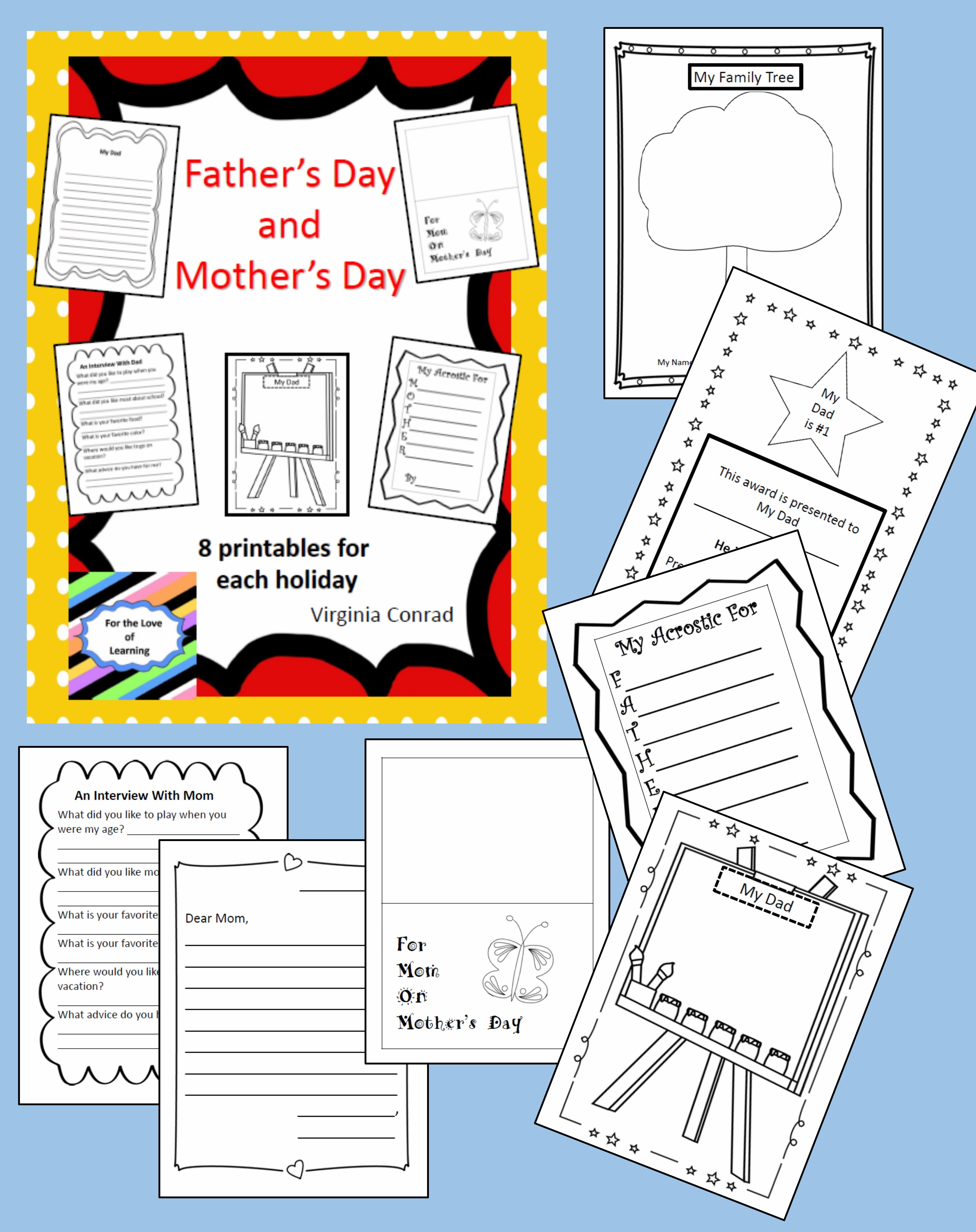 Mother S Day And Father S Day Printables
