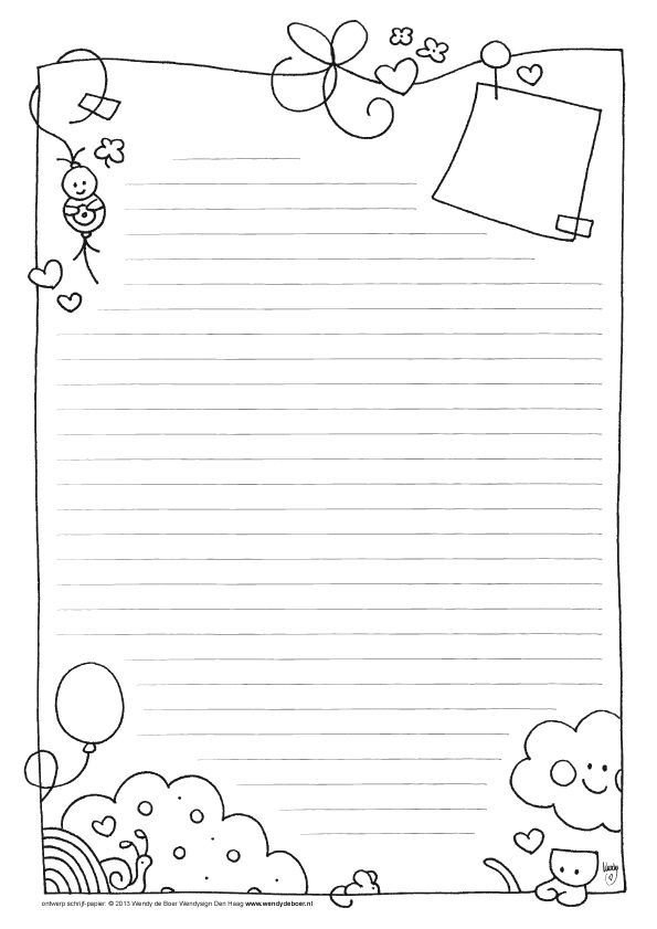 This is an image of Magic Free Printable Stationary With Lines and Borders