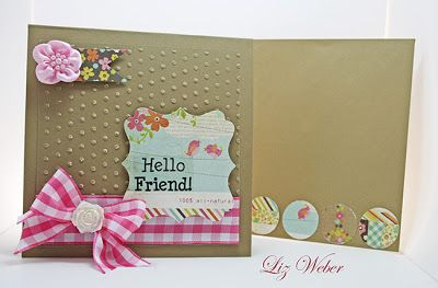 Square Card embossed with dots www.craftqueen.com.au