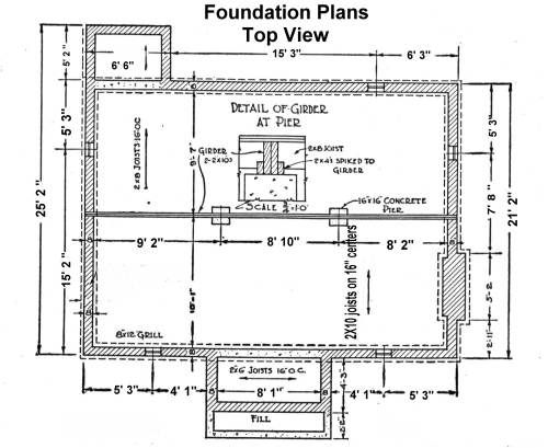 Foundation plan foundation details pinterest civil for How do you make a blueprint