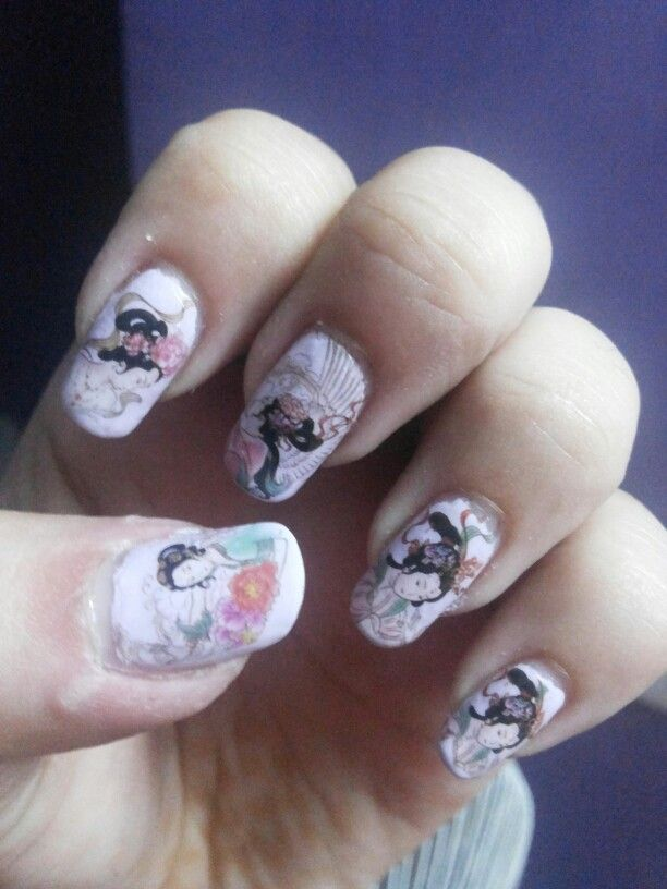 Fairy land nail art design