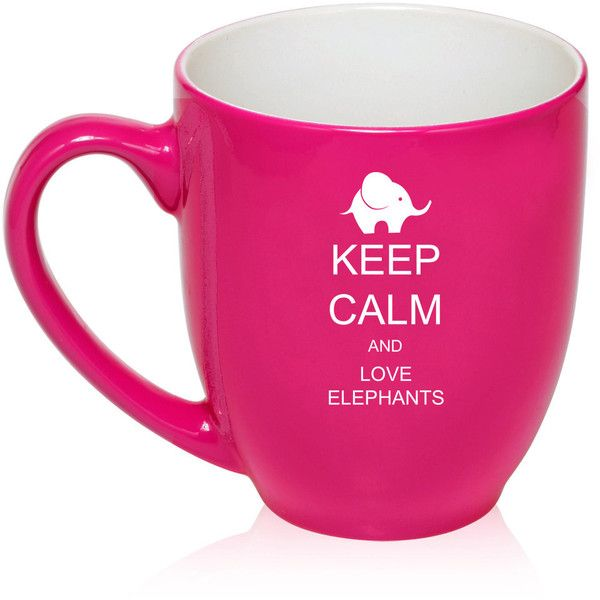 16 Oz Large Bistro Mug Ceramic Coffee Tea Mug Glass Keep Calm and Love... ($15) ❤ liked on Polyvore featuring home, kitchen & dining, drinkware, blue, drink & barware, home & living, mugs, blue coffee mugs, blue glass coffee mugs and bistro coffee mugs