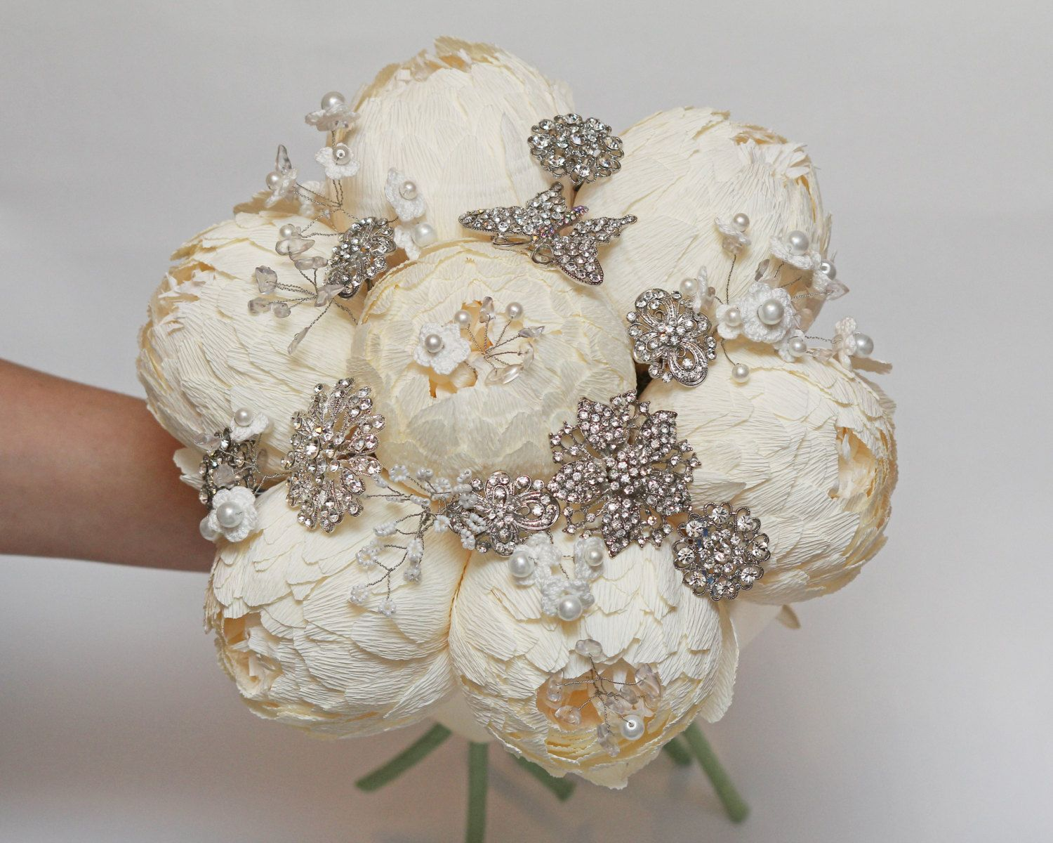 Fall Bridal Bouquets With Brooches Request A Custom Order And Have Something Made Just For