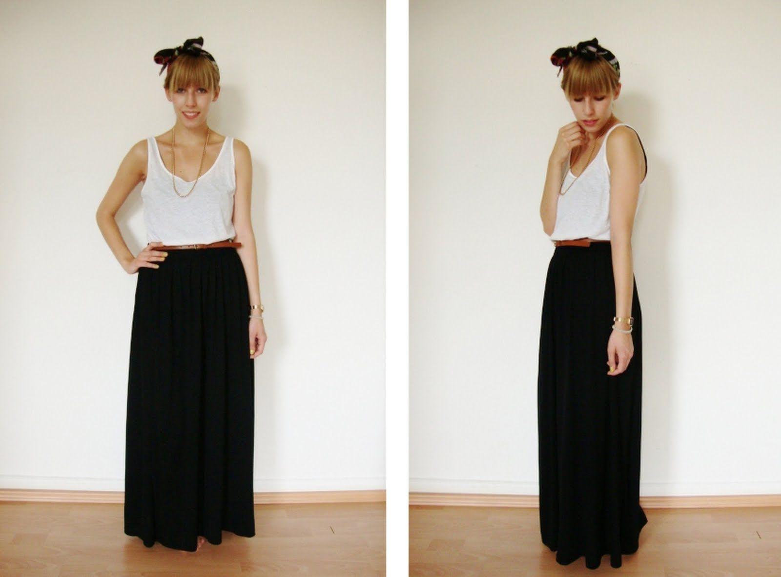 Bonjour Modemoiselle: Outfit: schwarzer Maxirock