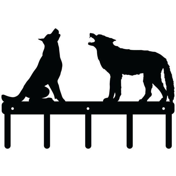 Howling Wolves Metal Key Hook Metal Art Rack Metal Sign indoor ...