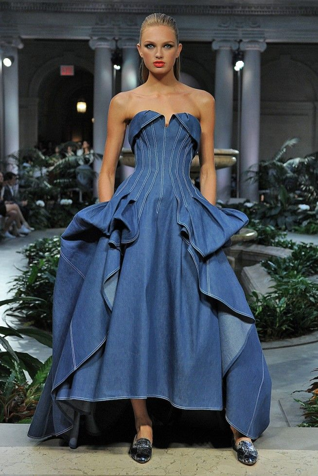 5abe493013ac Vanessa Simmons in Ermanno Denim Dress
