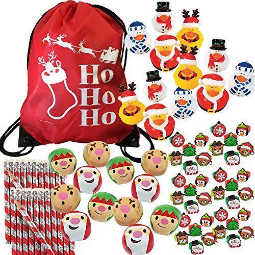 85 Piece Christmas Party Favors Stocking Stuffers Bulk Variety Pack - bulk halloween decorations