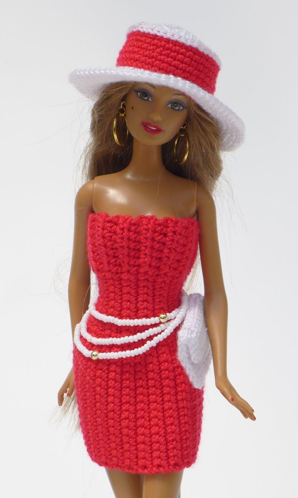 Schickes Sommer Outfit Einfach Selberhäkeln Hut Kleid Clutch