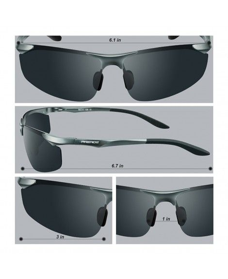 7667c24274 Men s Driving Polarized Sunglasses for Men Al-Mg Metal Frame Ultra ...