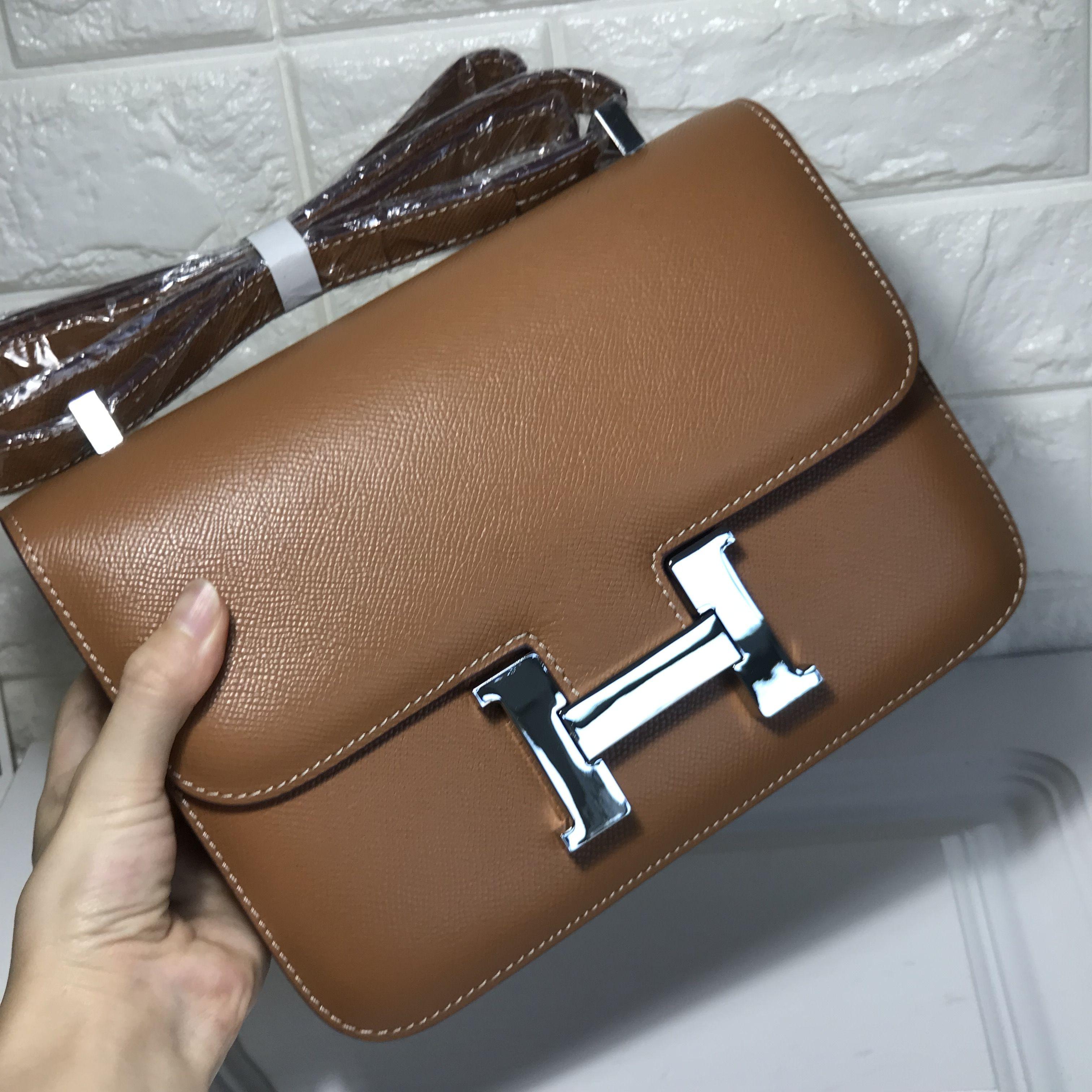 10ca62739021 ... wholesale hermes constance bag 23cm epsom leather camel silver 5b497  a8abe ...