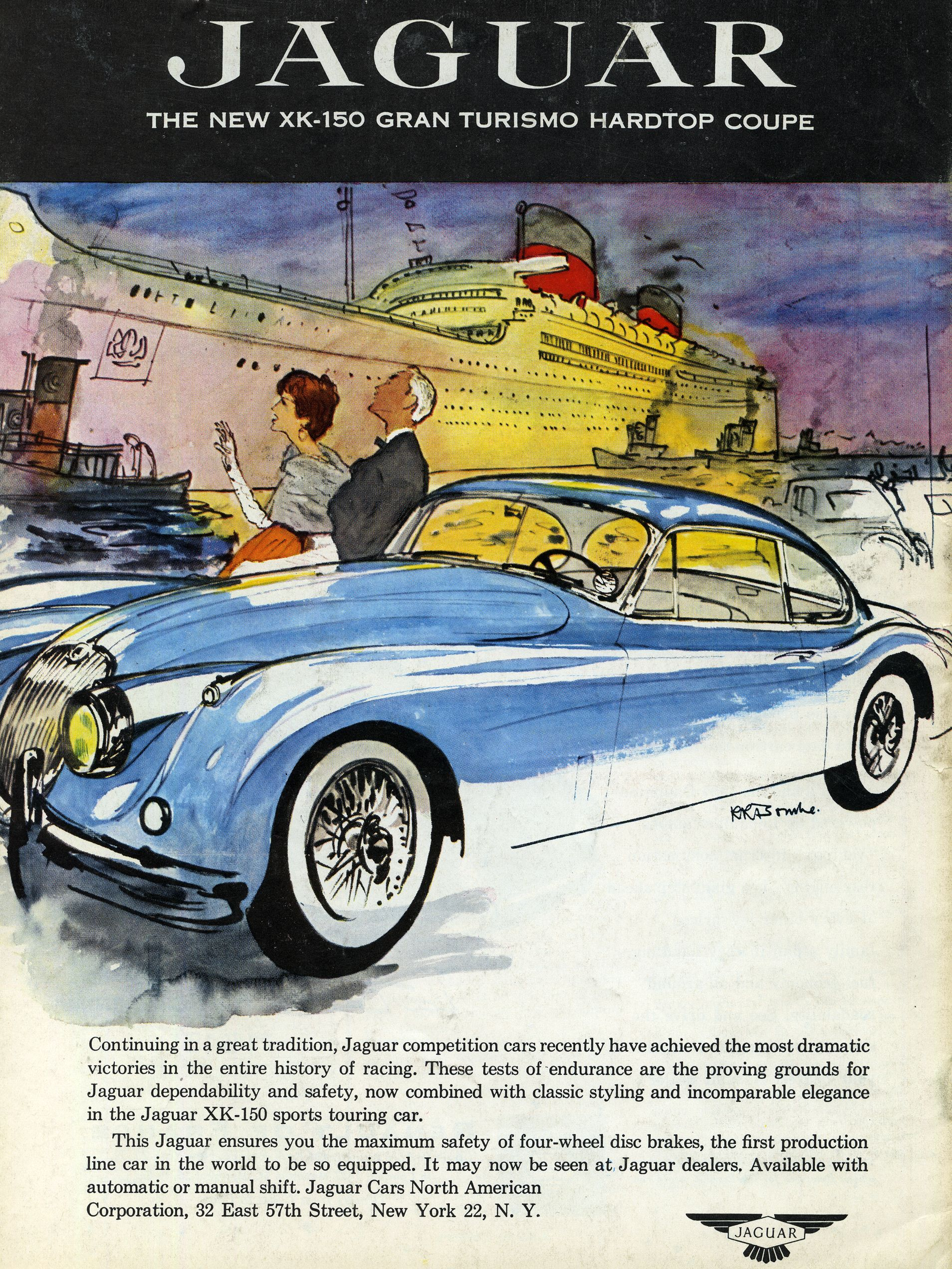 These 29 Car Ads From 60 Years Ago Are Undeniably Cool Jaguar 1954 Xk120 Wiring Diagram Advertising Sport