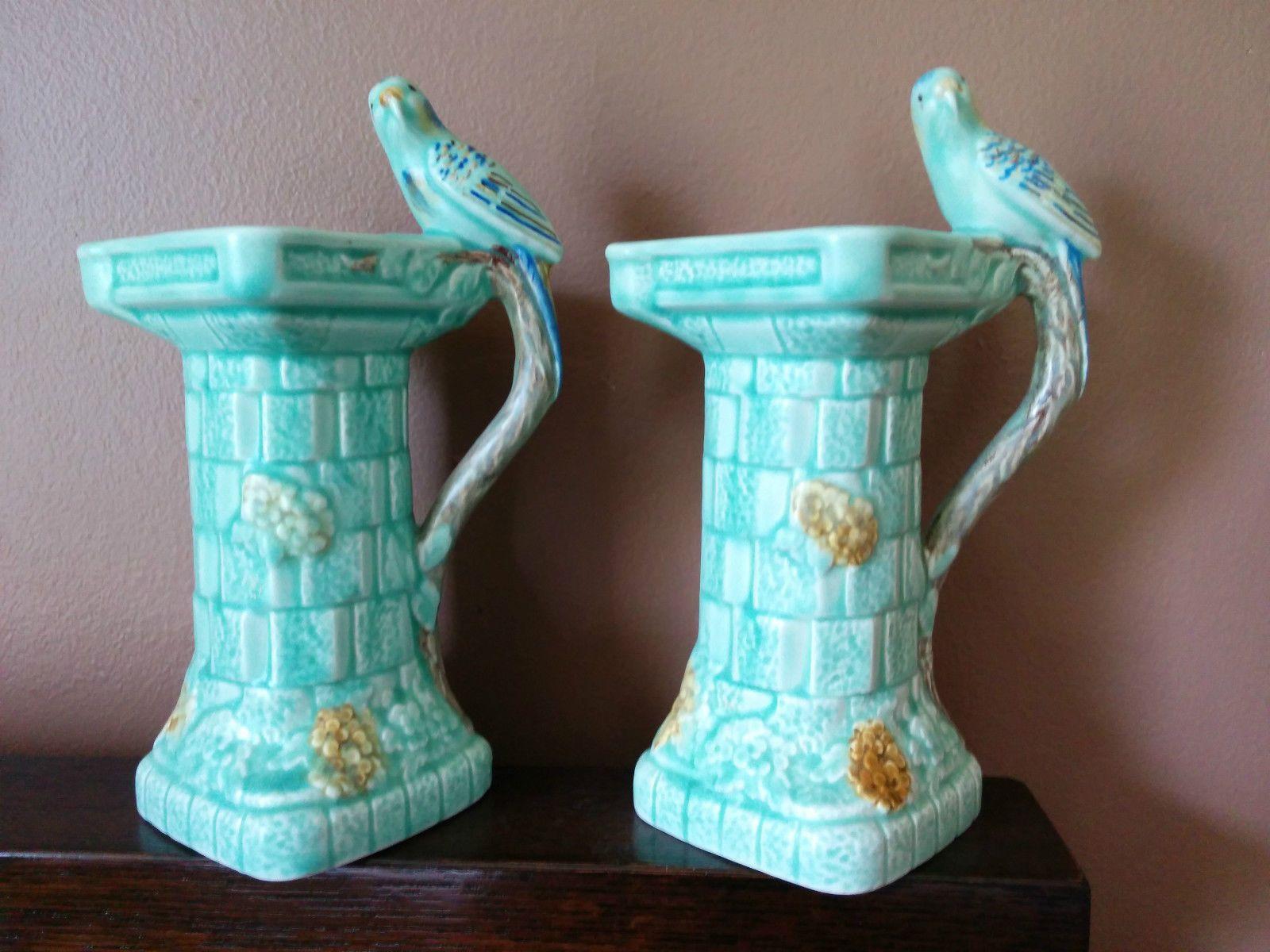 Vintage wade heath england bird handle pitcher jug vase pair 2 vintage wade heath england bird handle pitcher jug vase pair 2 pottery reviewsmspy