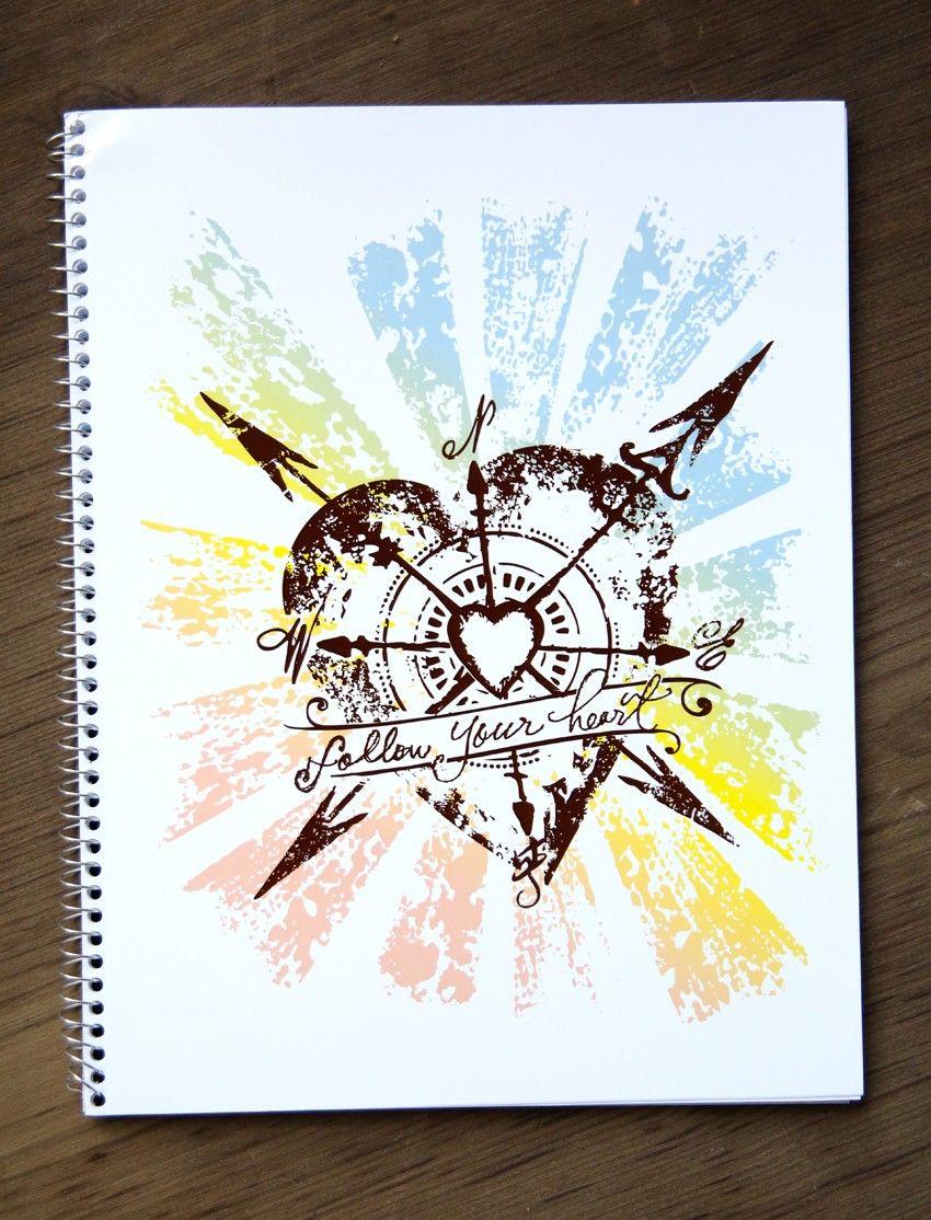 Heart cover up tattoo ideas follow your heart notebook  junk gypsy co  tatoo  pinterest