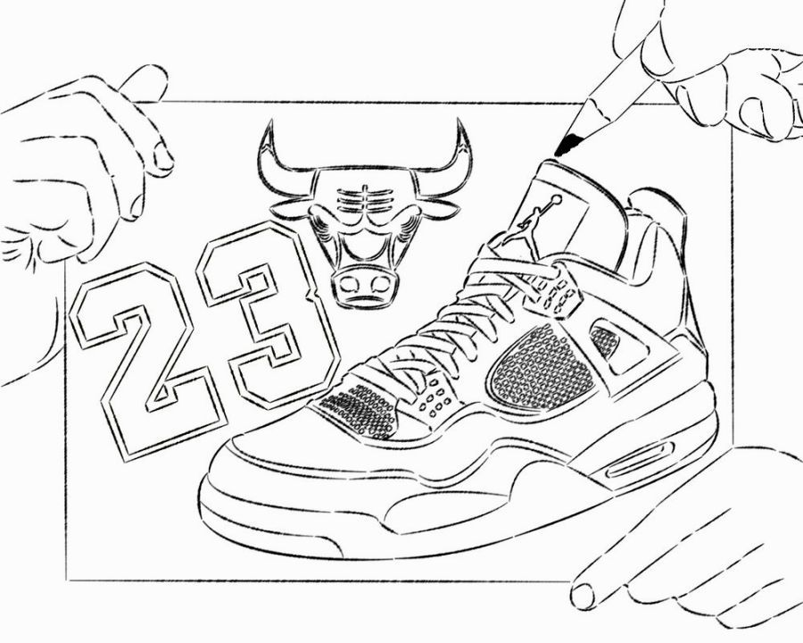 Jordan Shoes Coloring Pages Free Coloring Pages Coloring Pages Sports Coloring Pages