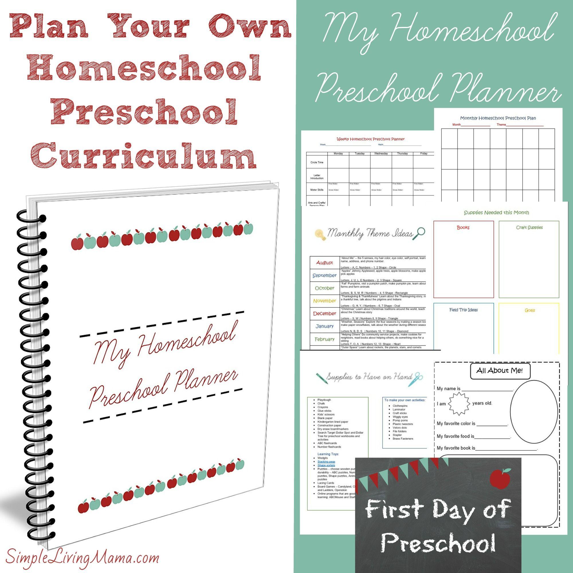 my homeschool preschool planner | pinterest | homeschool preschool